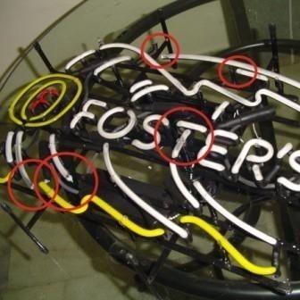Neon sign repair design production creation custom brands logo's name tekst bar restaurant mancave neonfactory