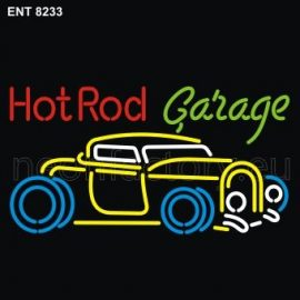 8233 Hot Rod garage with car neon