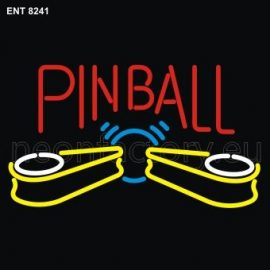 8241 Pinball with flippers neon