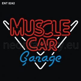 8242 muscle car garage neon