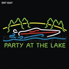 8247 party at the lake neon