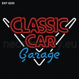 8255 classic car garage neon