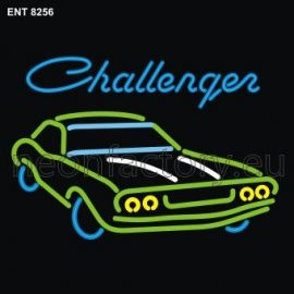 8256 dodge challenger with car neon