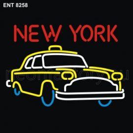 8258 new york taxi neon
