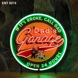 ENT 8274 Dads garage neon sign automotive neonfactory neon designs scooter logo fifties motorcycle brands