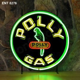 ENT 8276 Polly gas neon automotive neonfactory motorcycle neon designs logo fifties petrol companies