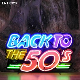 ENT 8323 Back to the 50 neon sign neonfactory neon designs logo fifties Rock and roll jukebox