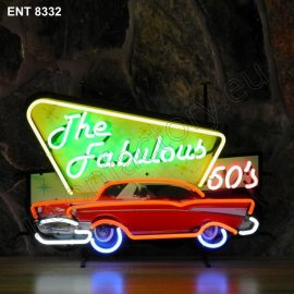 ENT 8332 Fabulous fifties neon sign automotive auto car neonfactory neon designs logo fifties
