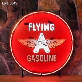 ENT 8345 Flying A gasoline neon sign automotive neonfactory neon designs scooter logo fifties Oil companies