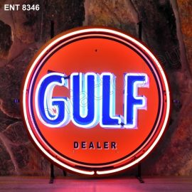 ENT 8346 Gulf neon sign automotive neonfactory neon designs scooter logo fifties Oil companies