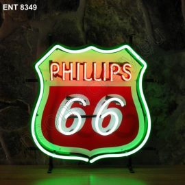 ENT 8349 Phillips 66 neon sign automotive neonfactory neon designs scooter logo fifties Oil companies