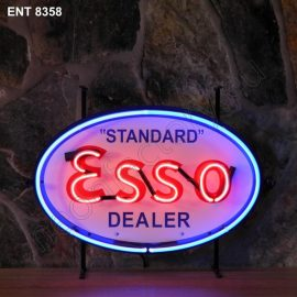 ENT 8358 Esso dealer neon sign automotive neonfactory neon designs scooter logo fifties Oil companies