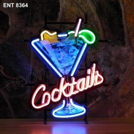 ENT 8364 Cocktails glas neon sign neonfactory neon designs logo fifties Rock and roll jukebox