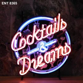 ENT 8365 Cocktails & dreams neon sign neonfactory neon designs logo fifties Rock and roll jukebox