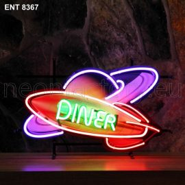ENT 8367 Rocket Diner neon sign rock and roll jukebox neonfactory neon designs logo fifties