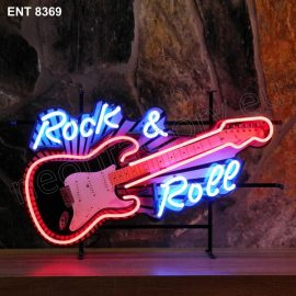 ENT 8369 Rock n Roll guitar neon sign neonfactory neon designs logo fifties Rock and roll jukebox