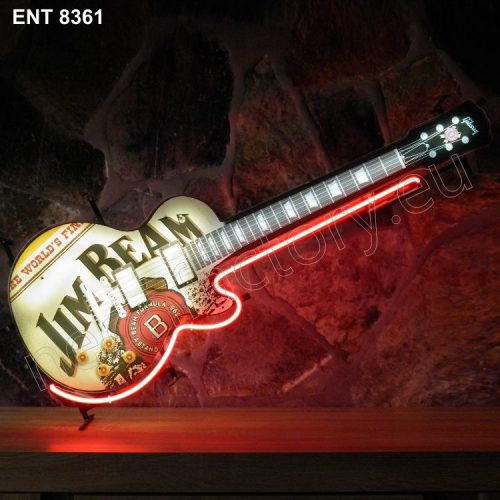 ENT 8361 Jim Beam guitar neon sign neonfactory neon designs logo fifties Gibson
