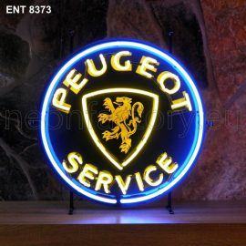 ENT 8373 Peugeot service neon sign automotive auto car neonfactory neon designs logo fifties