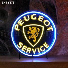 ENT 8373 Peugeot service neon sign automotive auto car neonfactory neon designs logo fifties
