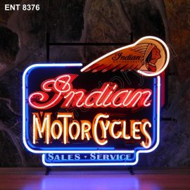ENT 8376 Indian Motorcycles neon sign automotive neonfactory neon designs scooter logo fifties motorcycle brands