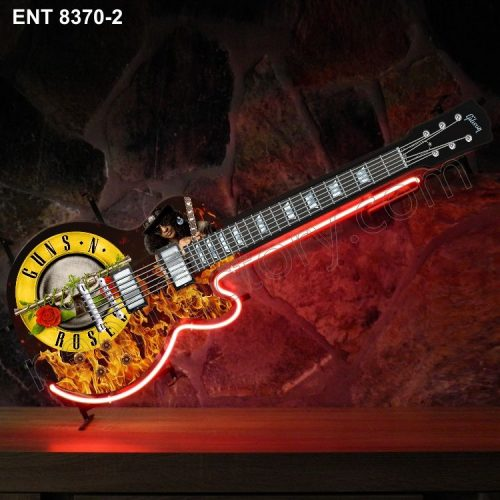 ENT 8370-2 Guns n Roses neon guitar sign music rock and roll neonfactory neon designs logo fifties