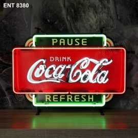ENT 8380 Coca Cola pause refresh fifties neon sign neonfactory neon designs logo fifties Rock and roll jukebox