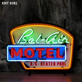ENT 8382 Bel Air Motel fifties neon sign rock and roll jukebox neonfactory neon designs logo fifties