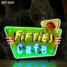ENT 8383 Fifties Cafe neon sign neonfactory neon designs logo fifties Rock and roll jukebox