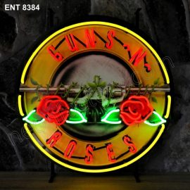 ENT 8384 Guns n Roses neon sign music rock and roll neonfactory neon designs logo fifties