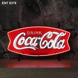 ENT 8379 Coca Cola Fishtail neon sign neonfactory neon designs logo fifties Rock and roll jukebox