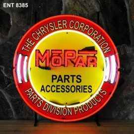 ENT 8385 MOPAR circle neon sign automotive auto car neonfactory neon designs logo fifties