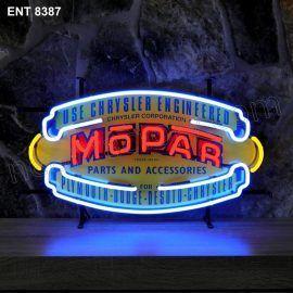 ENT 8387 MOPAR neon sign automotive auto car neonfactory neon designs logo fifties Mopar parts and accessories