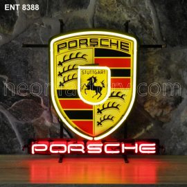 ENT 8388 Porsche neon sign automotive auto car neonfactory neon designs logo fifties