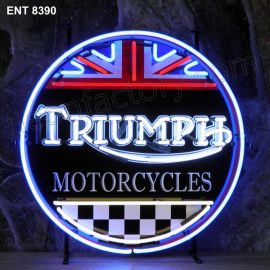 ENT 8390 Triumph neon sign automotive neonfactory neon designs scooter logo fifties motorcycle brands