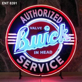 ENT 8391 Buick authorized service neon sign automotive auto car neonfactory neon designs logo fifties