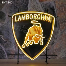 ENT 8401 Lamborghini neon sign automotive auto car neonfactory neon designs logo fifties