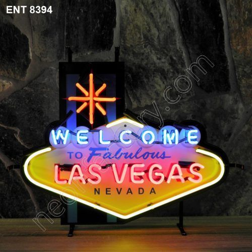 ENT 8394 Welcome Las Vegas neon sign neonfactory neon designs logo fifties mancave