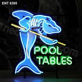 ENT 8395 Pool Tables neon sign neonfactory neon designs logo fifties shark biljart pool mancave