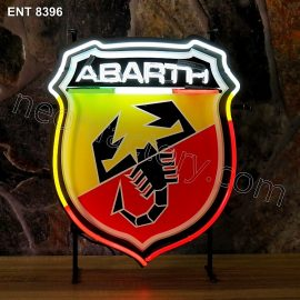 ENT 8396 Abarth neon sign automotive auto car neonfactory neon designs logo fifties