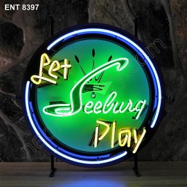 8397 Let Seeburg play neon factory jukebox rock roll designs fifties