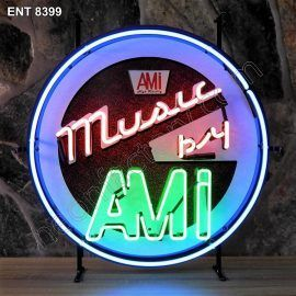 ENT 8399 Music by AMI neon sign rock and roll jukebox neonfactory neon designs logo fifties