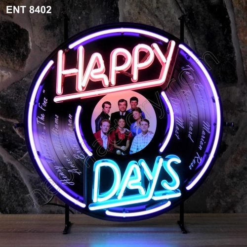 ENT 8402 Happy Days neon sign rock and roll neonfactory jukebox neon designs logo fifties