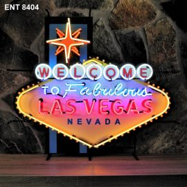 ENT 8404 Welcome to Las Vegas neon sign neonfactory neon designs logo fifties