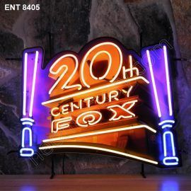 ENT 8405 20th century fox neon sign film neonfactory movies neon designs logo fifties