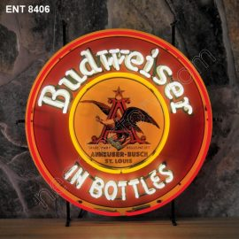ENT 8406 Budweiser in bottles neon sign rock and roll jukebox neonfactory neon designs logo fifties