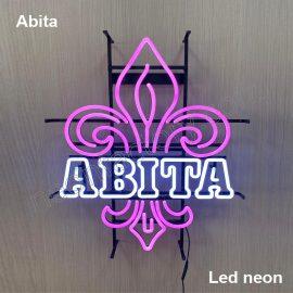 LED Neon Abita Neonled brands brandmark logo name tekst bar restaurant mancave neonfactory
