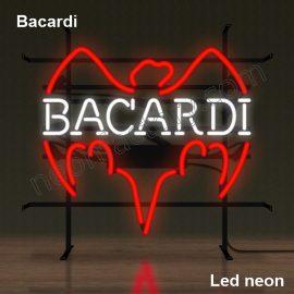 LED Neon Bacardi Neonled brands brandmark logo name tekst bar restaurant mancave neonfactory