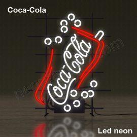 LED Neon Coca-Cola bubbles Neonled brands brandmark logo name tekst bar restaurant mancave neonfactory