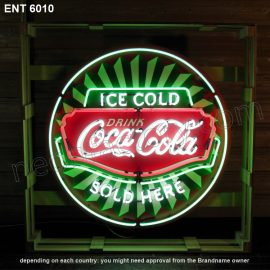 ENT 6010 Coca-Cola icecold sold here néon sign automotive neon factory neon designs fifties L'enseigne néon