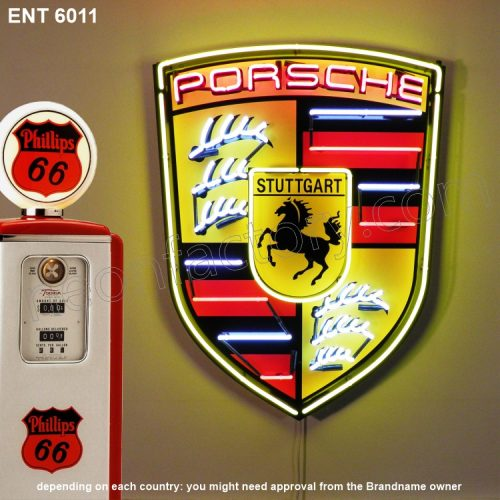 ENT 6011 Porsche neon sign automotive neonfactory motorcycle neon designs logo fifties